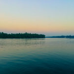 River or lake after sunset - beautifull nature