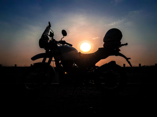 Sunset behind bike - Travel