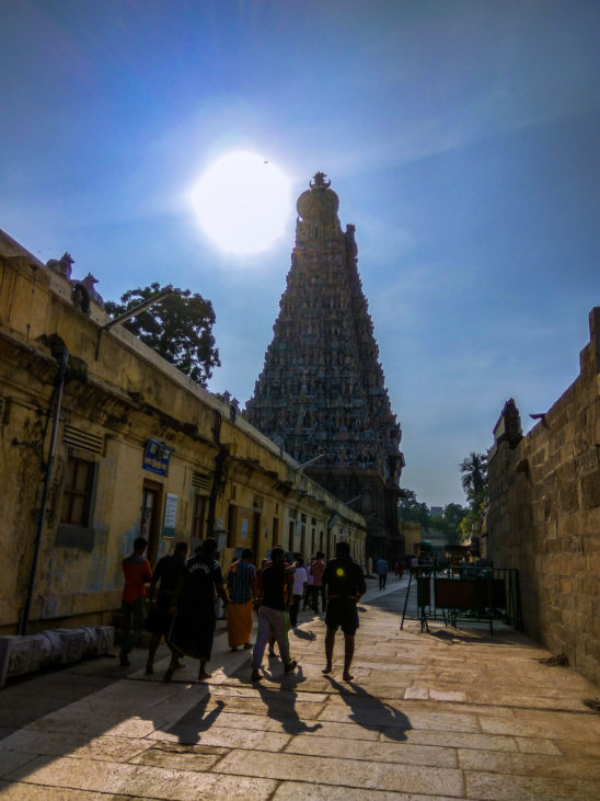 Indian temple - Sun above the temple tomb
