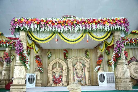 Hindu God Idols in Wedding Hall
