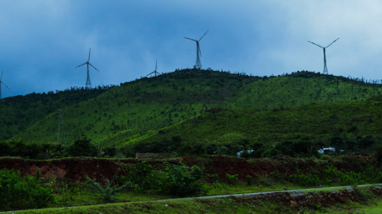 Wind mill on hill