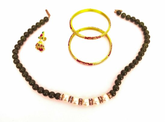 necklace bangles and rings