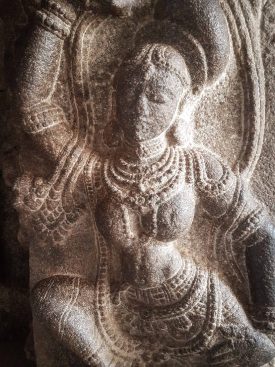 stone carved sculpture on Indian temple