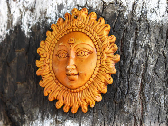 Sun Face Wooden Craft