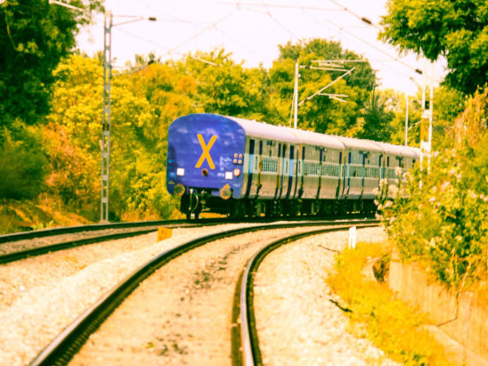Train View from Rear End