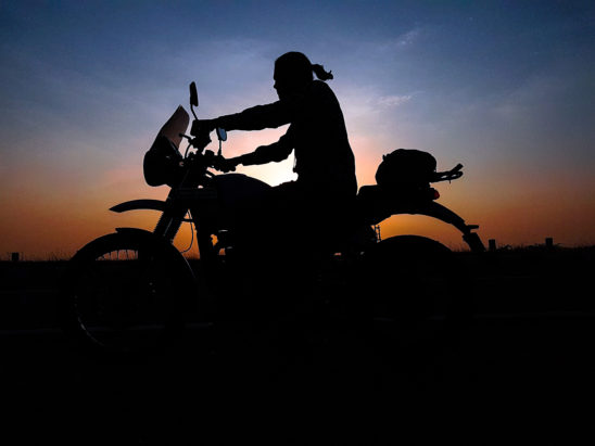 biker sunset background wallpaper