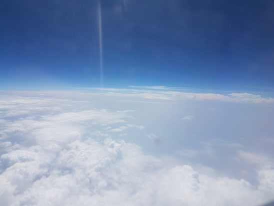 Clouds view from aeroplane