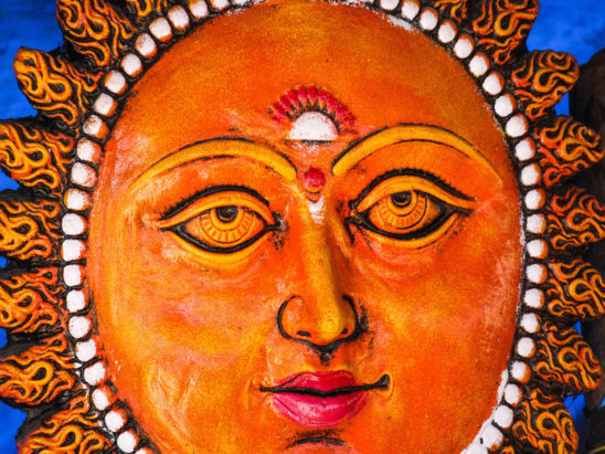 sun Face Close up