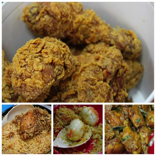 non veg food collages