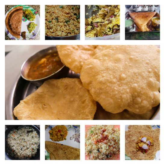 south Indian morning breakfast collages