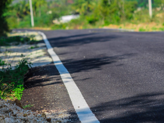 Road and white Edge Line