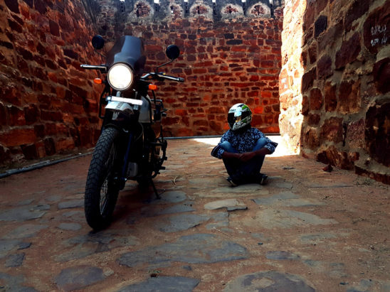 Bike Rider in Gandikota Fort