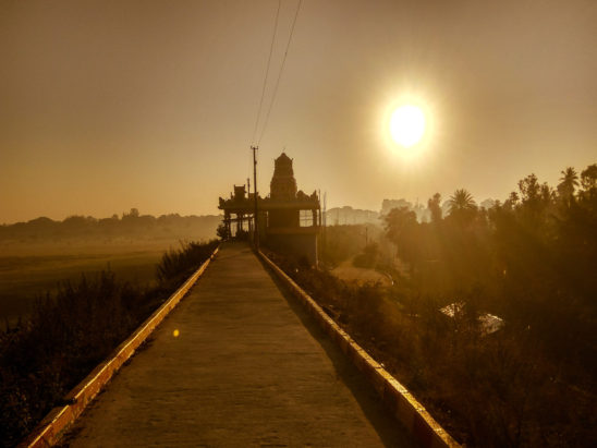 Temple Photography in Sunset Background