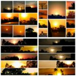 sunset and sunset collage