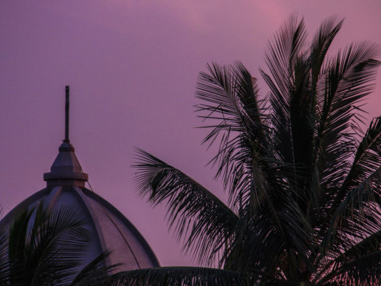 Tomb View of Mosque during Sun Set