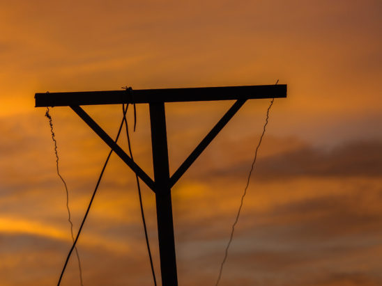 Clothes Hanger Seen During Sunset