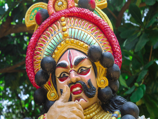 yaksha gana dancer face