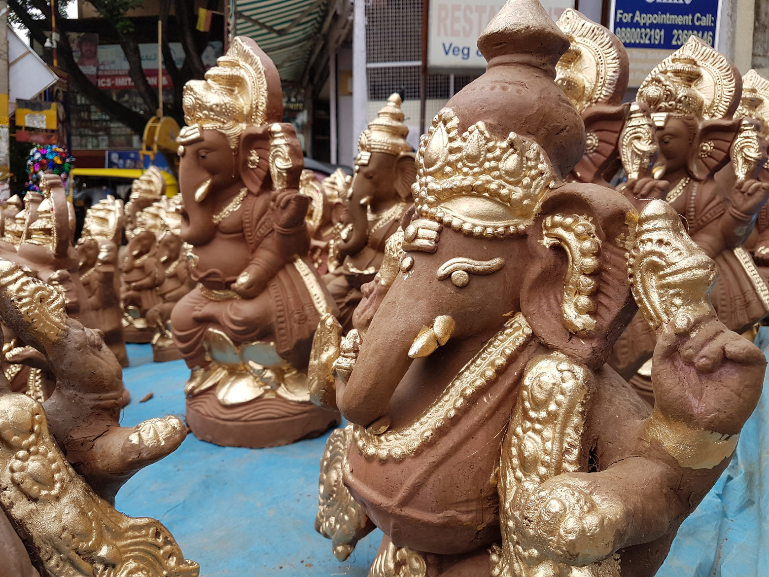 clay ganesh idol - free indian stock pictures. download for free