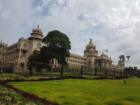 Green Lawn in Front of Vidhanasoudha