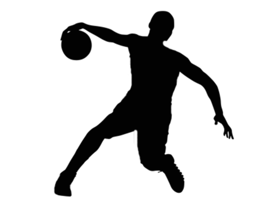 Basketball player vector in PNG