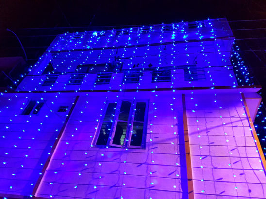 Lighting Decoration to new constructed building