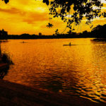 Evening View of Water Lake