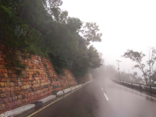 rainy roads in tirumala