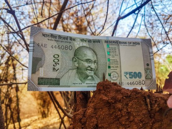 500 Rs on ground