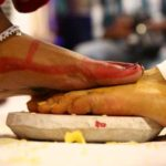 Legs of bride and bridegroom - Tradition