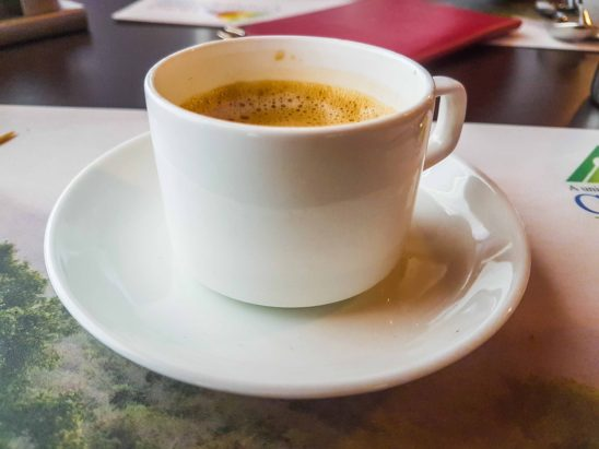 Coffee in Cup and Saucer