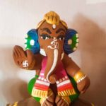 Small Cute Natural Color Ganesh Idol
