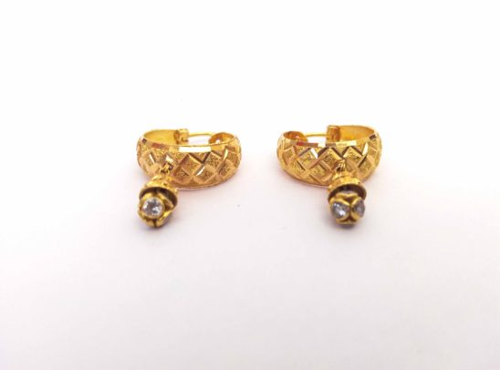 golden women earrings