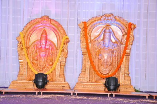 lord lakshmi venkateshwara idols in function hall