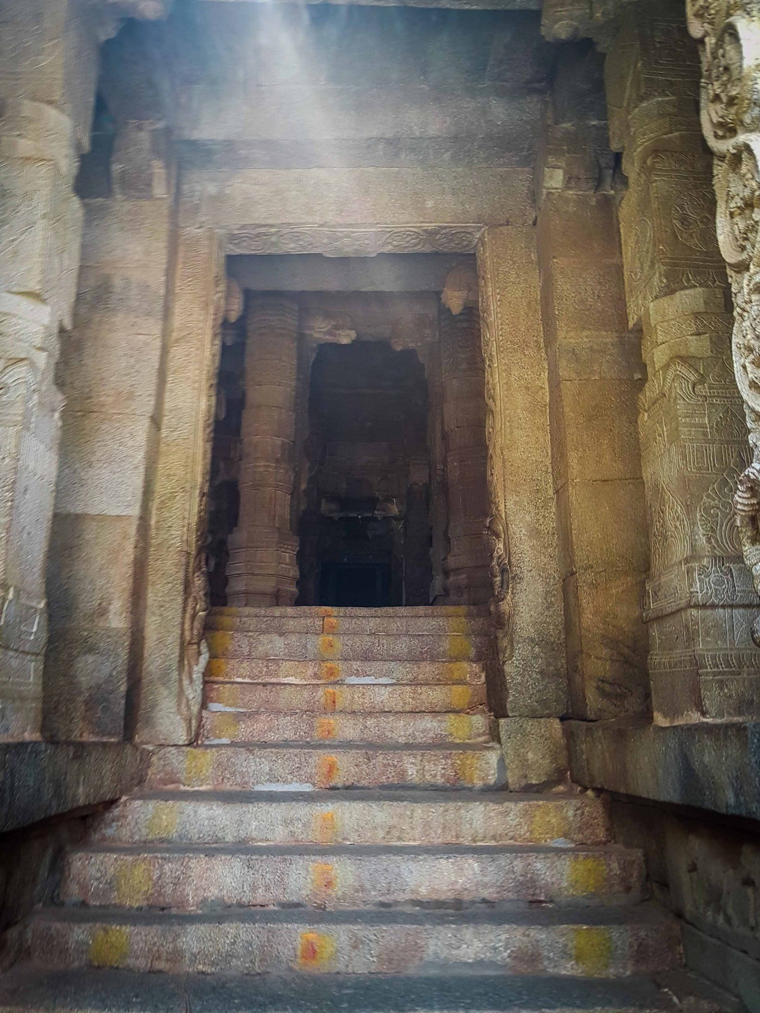 stone carved temple entrance