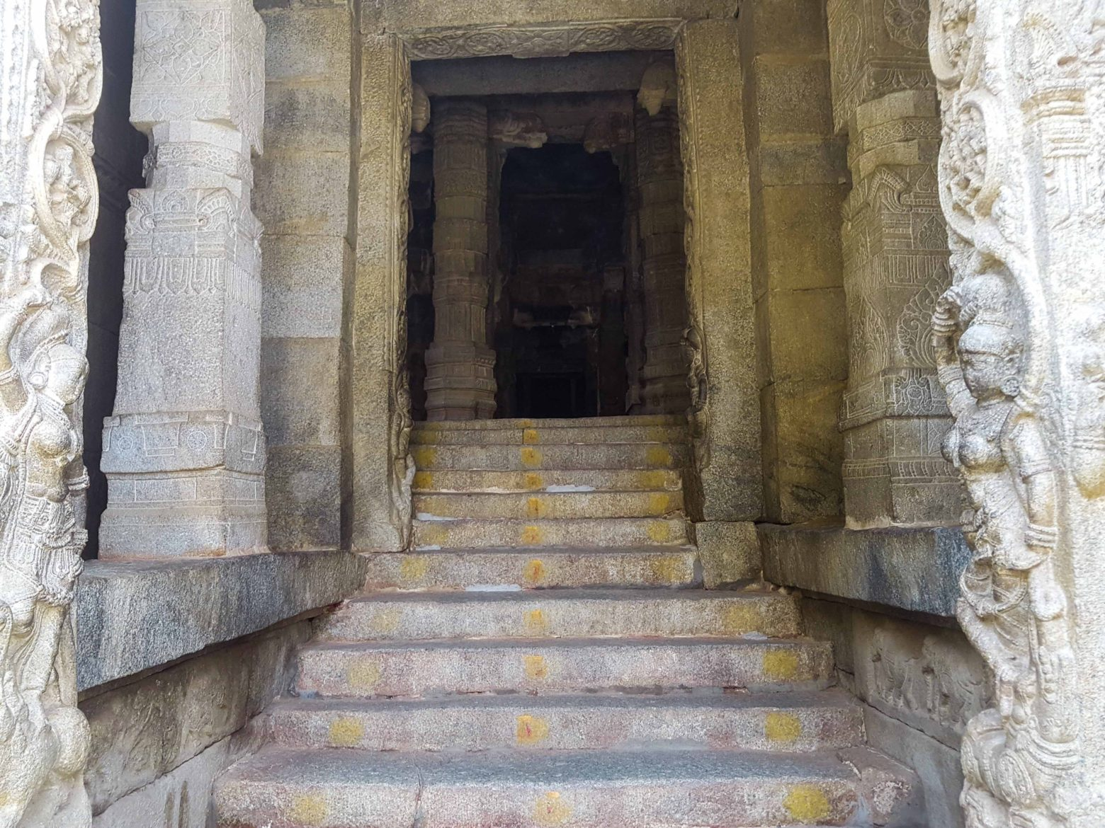 temple entrance stone carved