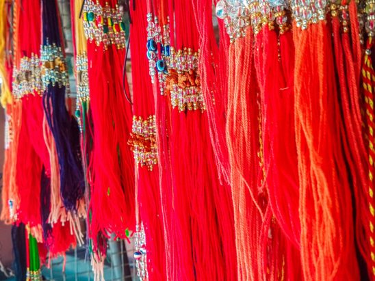 threads sold outside temple