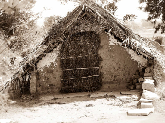 Indian old hut vintage
