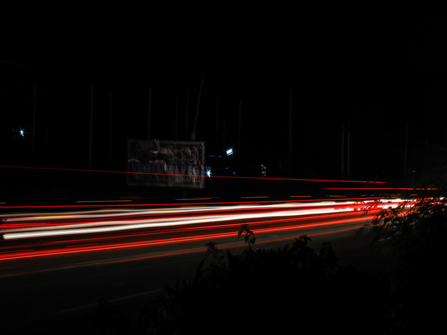 Vehicle Lights in HIghway during Nights