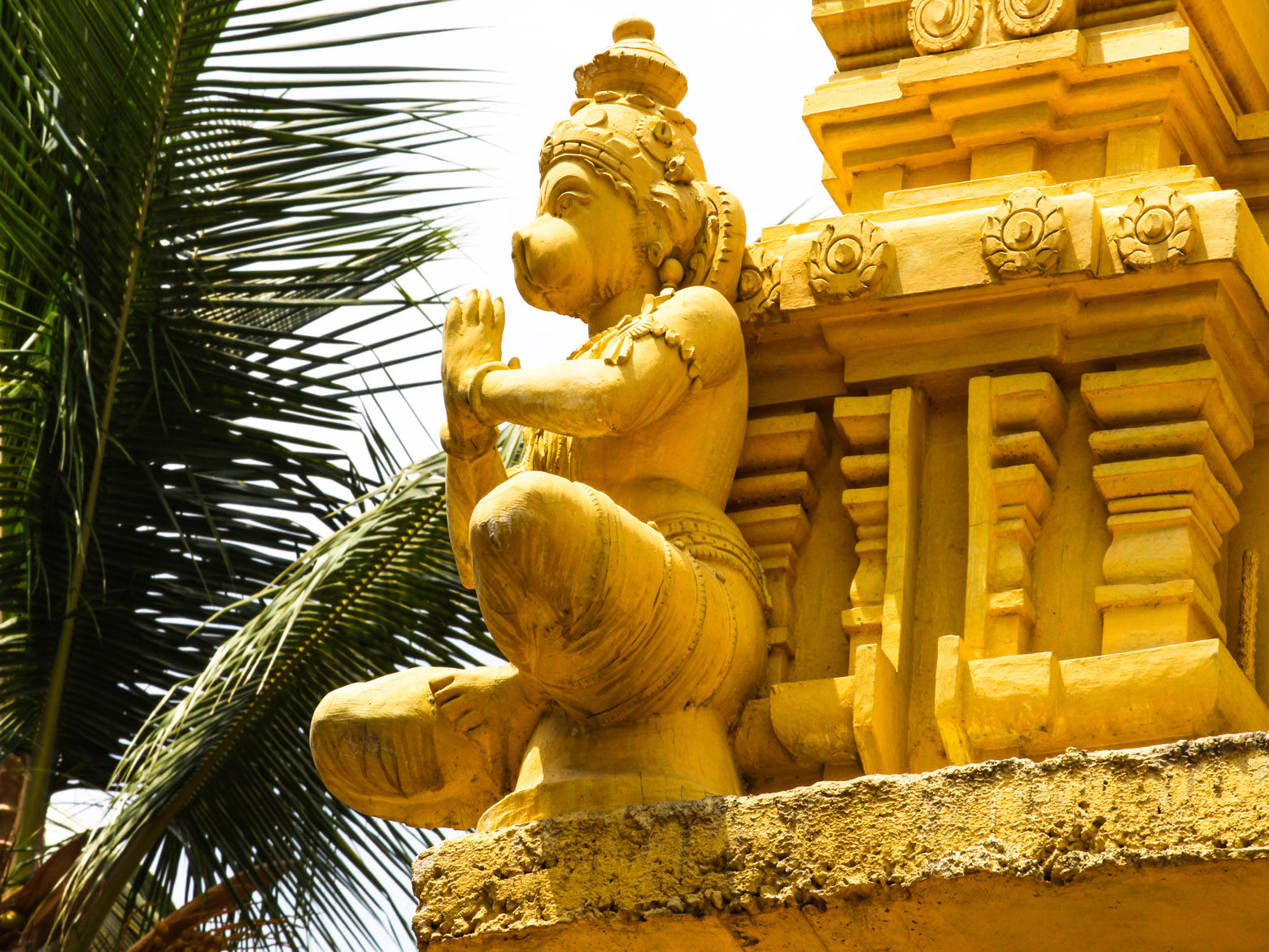 Lord Hanuman Idol on Temple Gopuram