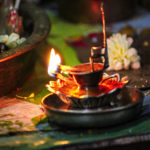 Diya Lit During Pooja