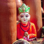 Swamji clay idol