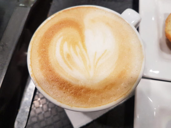 cappuccino with heart symbol