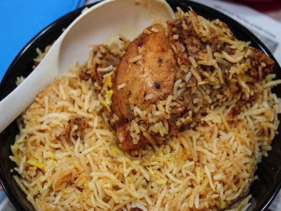 chicken biryani ready for serving
