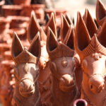 clay horse idols- home interior design