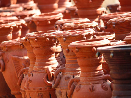 clay pots - interior decorative pots