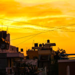House Roof top View during Sunset