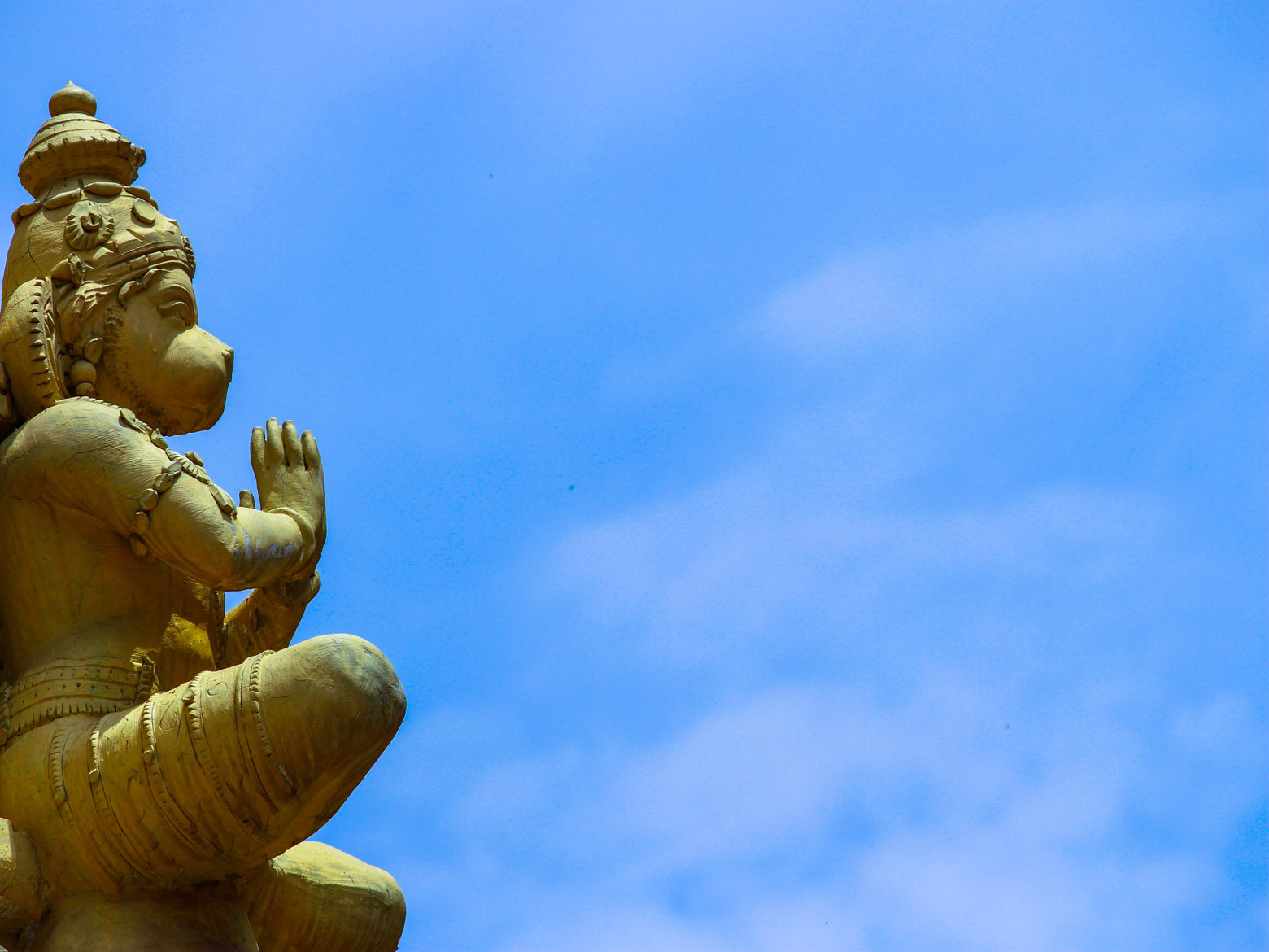 Hanuman Idol with Sky Background