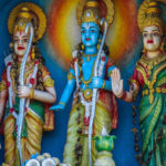 Lord Seetha Rama idols with Lakshmana