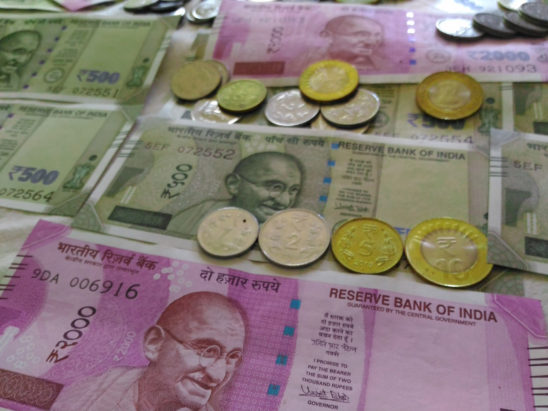 Indian notes and coins