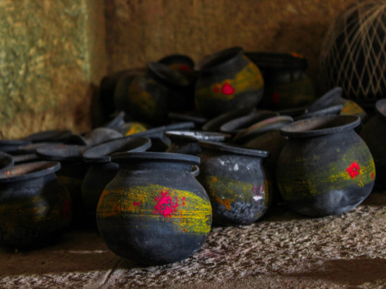 pooja pots in indian temples
